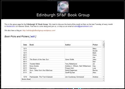 Edinburgh SF Book Group