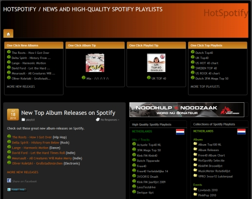 HotSpotify: Spotify News and Playlists
