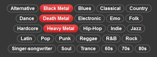 Spotify's metal-heavy Radio genres