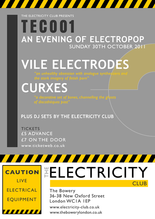 The Electricity Club Live with Vile Electrodes and Curxes
