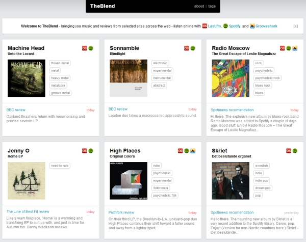 TheBlend: Album Review Aggregator for Spotify