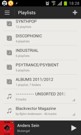 "Playlist folders also have a handy ""All Tracks"" option to play all tracks in all playlists in the folder."